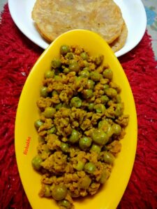 Soya Granules With Pav Bhaji